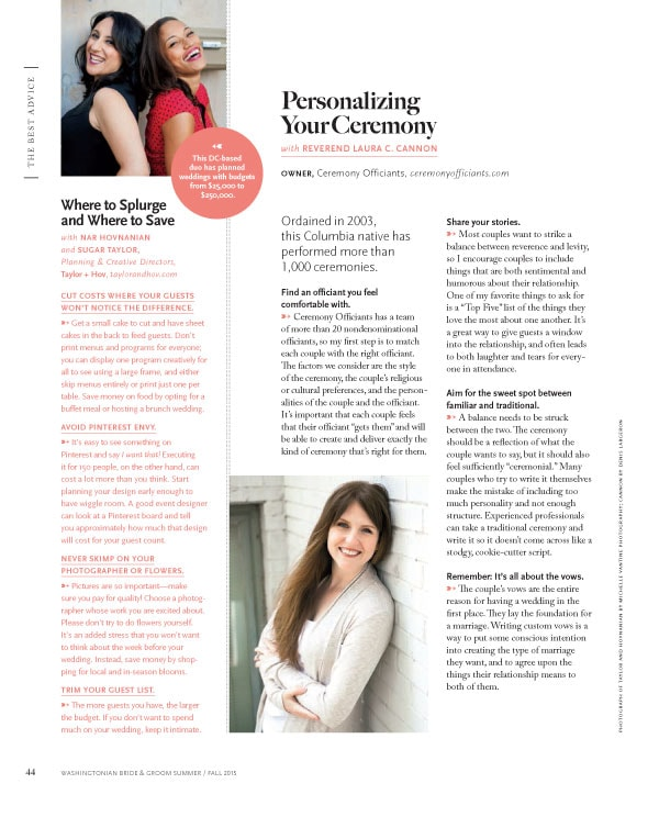 Washingtonian B&G Interview
