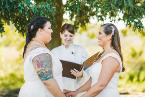 same sex marriage ceremony in Milton
